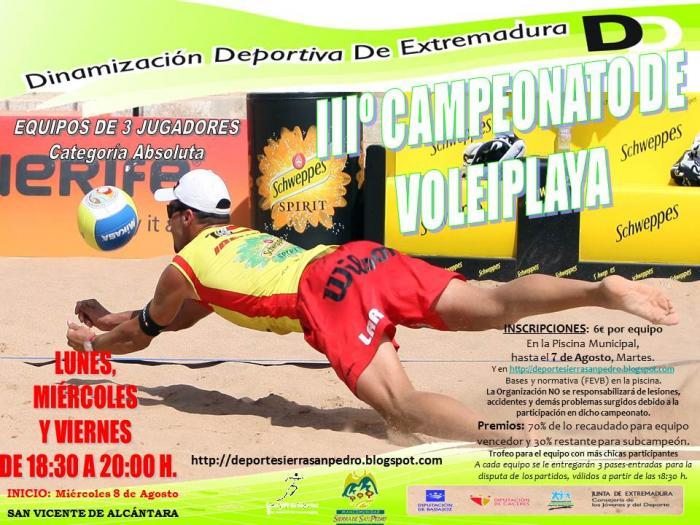 San Vicente de Alcántara desarrolla su plan de dinamización deportiva con encuentros de voley playa