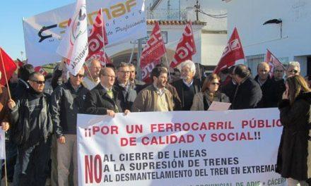 Valencia de Alcántara anima a seguir luchando para recuperar el tren Lusitania y el ramal portugués
