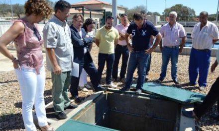 Del Moral comprueba la situación de las depuradoras de Puebla de Obando, Villar del Rey y La Codosera