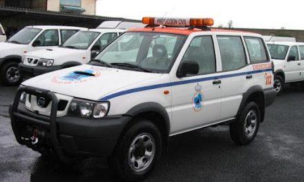 La Consejería de Fomento cede dos vehículos todoterreno  al servicio regional de Protección Civil