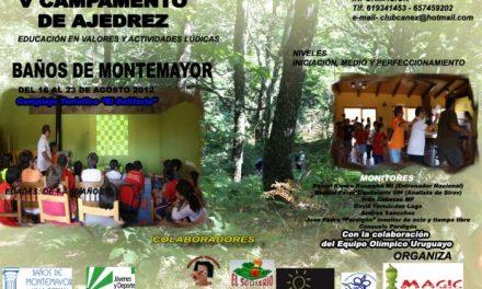 Baños de Montemayor acoge el V Campamento de ajedrez con el equipo olímpico de ajedrez de Uruguay