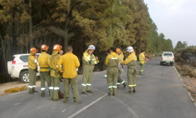 El Infoex logra estabilizar el incendio de Acebo y mantiene los retenes para controlar las zonas calientes