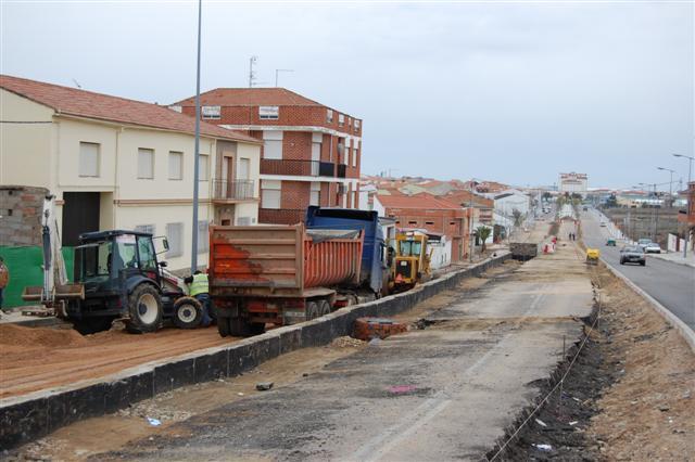 Miajadas finalizará las obras de remodelación de la avenida García Siñeríz la próxima primavera