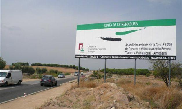 La calidad del tráfico de la carretera Almoharín-Miajadas mejorará a partir de esta semana, según Fomento