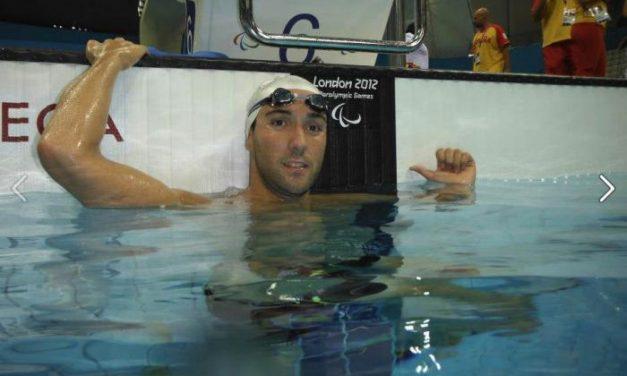 El nadador extremeño Enrique Floriano consigue la medalla de plata en los 400 metros libres en Londres