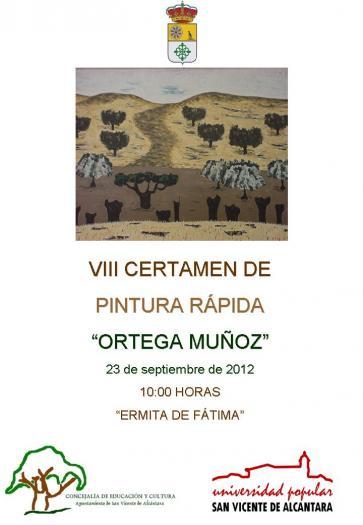 San Vicente de Alcántara convoca el VIII Certamen de Pintura Rápida «Ortega Muñoz» para el día 23