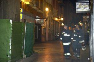 El derrumbe de anoche en el Museo de Badajoz afectó a dos forjados del edificio que se está demoliendo