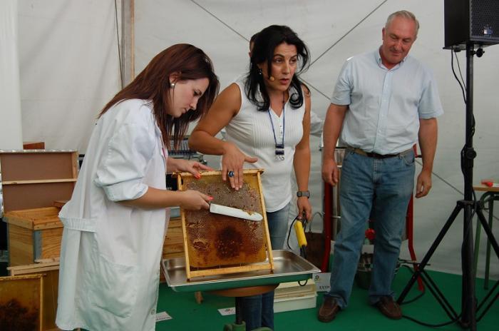 Cientos de visitantes disfrutan del maridaje de la miel con dulces típicos de Las Hurdes en la Feria Rayana