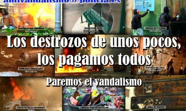 La Policía Nacional lanza una campaña en las redes sociales  para luchar contra el vandalismo