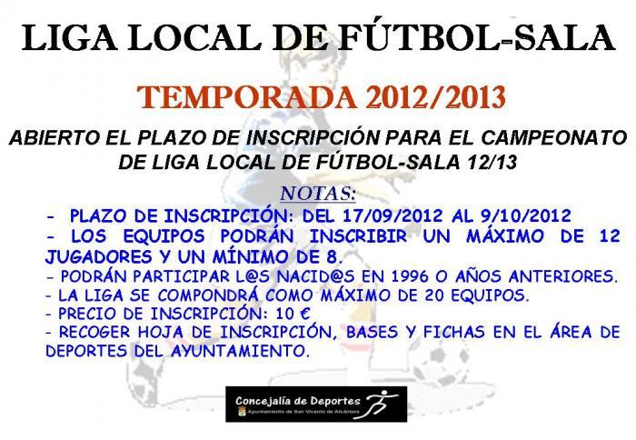 San Vicente de Alcántara cerrará el 9 de octubre el plazo para inscribir equipos en la liga de Fútbol Sala