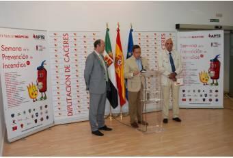 La Diputación de Cáceres participa hasta el viernes en la VII edición de la Semana de Prevención de Incendios