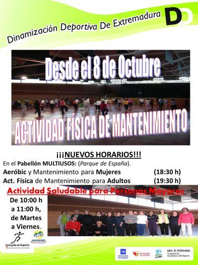 San Vicente de Alcántara inicia esta semana la actividad física deportiva para mujeres y mayores