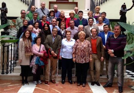 Juan Parejo da la bienvenida a la Asociación de Víctimas del Terrorismo en su convivencia en Alange