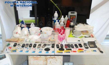 La Policía Nacional desmantela  un laboratorio de transformación de cocaína en la ciudad de Cáceres