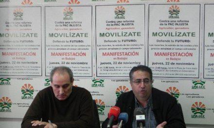 UPA-UCE se movilizará el 22 de noviembre en Badajoz para protestar por la reforma de la PAC