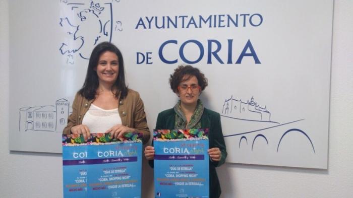 """Coria celebrará este viernes la segunda edición de """"Coria shopping night"""" dentro de la campaña """"Comercio y Vida"""""""