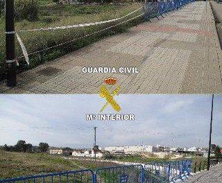 Detienen a un joven de 31 años por el robo de las barandillas de varios puentes de Badajoz