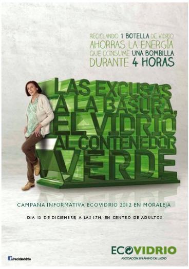 El Ayuntamiento de Moraleja pone en marcha acciones informativas para fomentar el reciclaje de vidrio