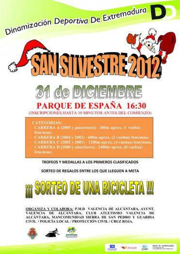 La localidad de Valencia de Alcántara ultima los preparativos de la popular carrera San Silvestre