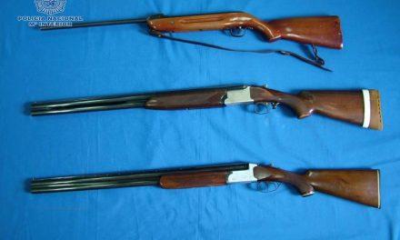 Detienen a un hombre de 35 años por sustraer tres armas de fuego del interior de un domicilio de Badajoz