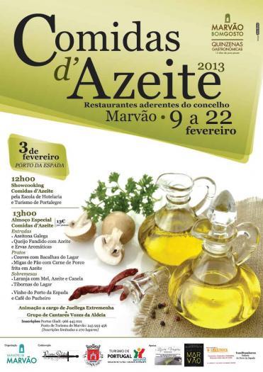 Marvâo potencia el turismo gastronómico con una quincena dedicada al aceite de oliva virgen extra