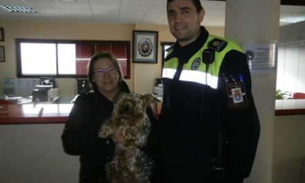 La Policía Local de Plasencia identifica a un perro extraviado hace más de un año en Casar de Cáceres