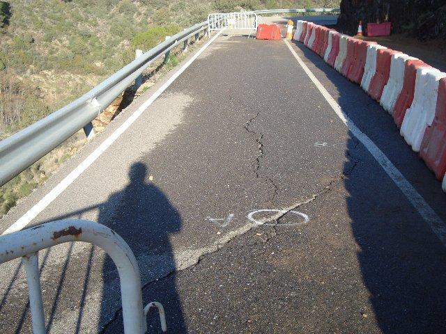 La Diputación de Cáceres destinará 100.000 euros para las obras de urgencia de la carretera de Las Mestas