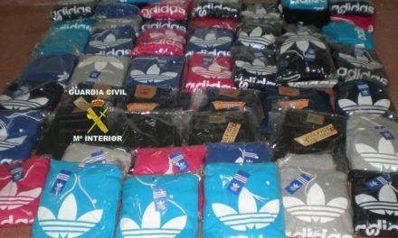 La Guardia Civil detiene a dos personas por vender falsificaciones de prendas de primeras marcas