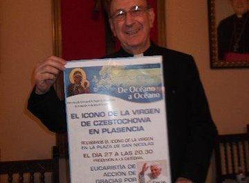 Plasencia recibirá el miércoles el icono de la virgen de Czestochowa que podrá visitarse en la Catedral