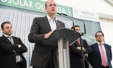Monago inaugura la planta termosolar Olivenza Iv y anuncia que se baraja un recurso contra el Gobierno