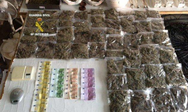 La Guardia Civil desmantela en Jarandilla de la Vera un punto de cultivo y venta de marihuana a gran escala