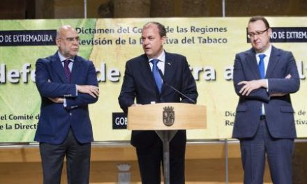 Monago presentará en el Comité de las Regiones el dictamen en defensa del sector del tabaco