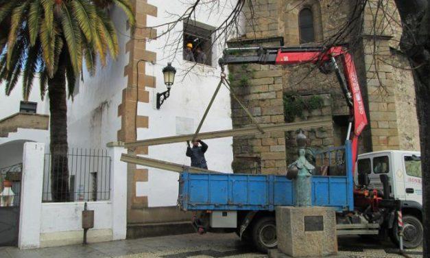 Alumnos del taller de empleo Santa Clara rehabilitan el patrimonio cultural de Valencia de Alcántara