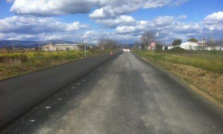 Marroyo confirma que la obra de la vía de La Moheda finalizará con urgencia cuando cesen las lluvias