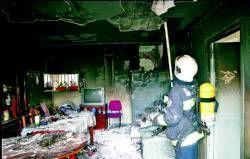 Una mujer prende fuego a su casa en la pedanía de Villafranco del Guadiana tras una discusión con su pareja