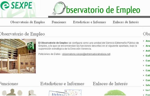 El Observatorio Extremeño de Empleo tiene ya su propia página web con información sobre el mercado laboral