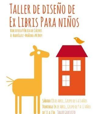 La Biblioteca Pública de Cáceres organiza un taller gratuito de diseño gráfico de ex libris