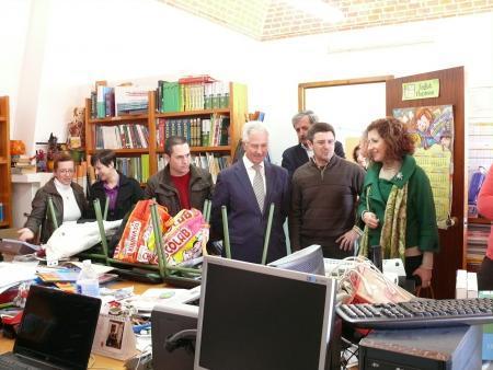 Díez Solís alaba la solidaridad de la comunidad educativa de Barbaño y Montijo durante los días de evacuación
