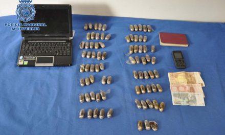 Detenido en Mérida por portar 74 «bellotas» de hachís cuando viajaba de Marruecos a Galicia