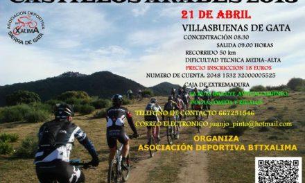 Villasbuenas de Gata celebrará este mes la ruta en bicicleta todo terreno de los castillos árabes