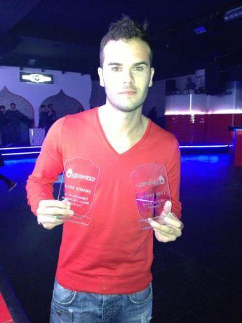 El DJ Carlos Chaparro obtiene dos premios en la I edición de la gala de música Extremadura Electrónica