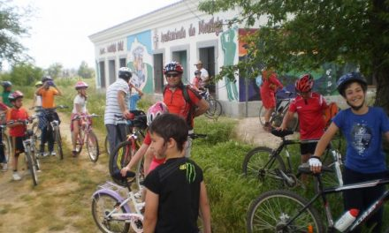 Más de  20 niños participan en la primera etapa de la V edición del mes de la bici de Moraleja
