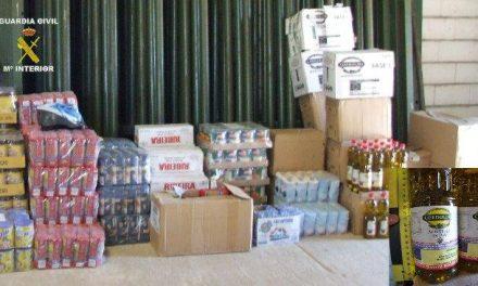 La Guardia Civil recupera la totalidad de la mercancía robada en el banco de alimentos de Plasencia