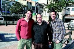 Daniel Muriel y Rafael Reaño, actores de Escenas de Matrimonio y Hospital Central visitan Coria