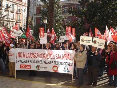 El seguimiento del sexto día de huelga en Justicia es del 95%, según los sindicatos, y el 45%, según el ministerio