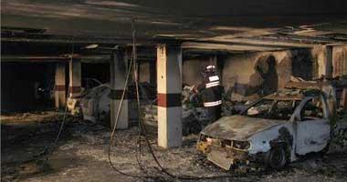 El incendio de un garaje del bloque de viviendas de Suerte de Saavedra, en Badajoz, fue fortuito