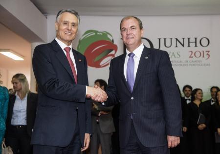 El presidente extremeño participa en Elvas en los actos organizados con motivo del Día de Portugal