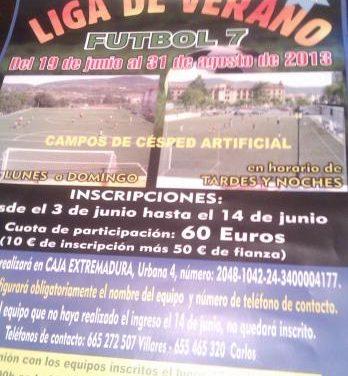 La liga de verano de fútbol-7 del Rosal de Ayala reunirá a 56 equipos de Plasencia y del norte de Cáceres