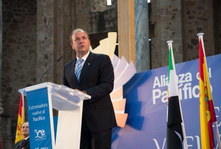 Monago asegura que en la Agenda Económica de España debe tener un papel prioritario Iberoamérica