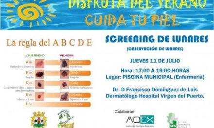 """La campaña """"Disfruta del Verano, cuida tu piel"""" organiza un screening de lunares el 11 de julio"""
